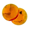 Acrylic 14mm Round Facet Marigold